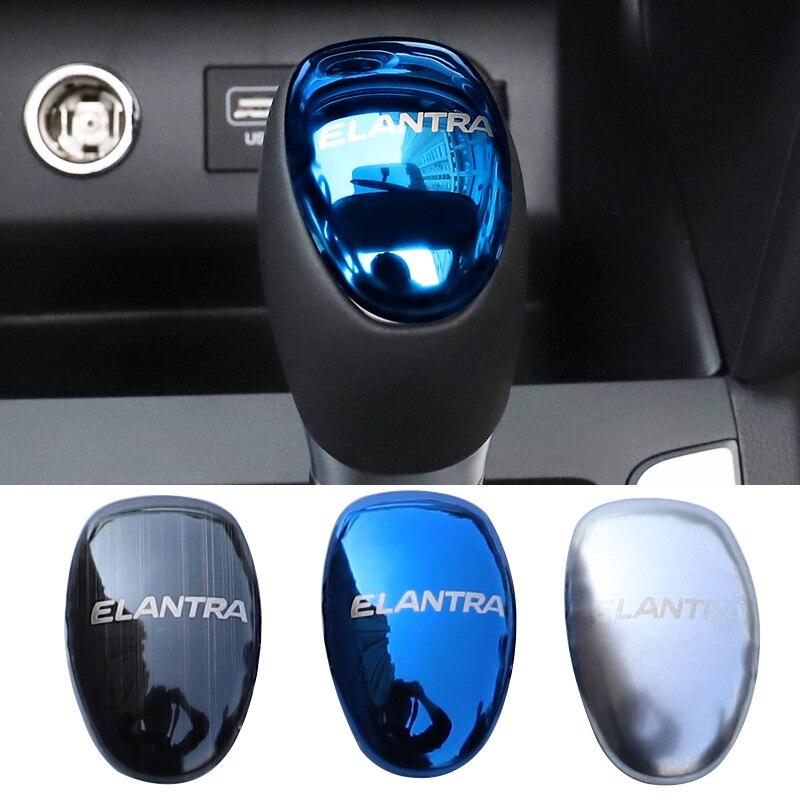 Accessoires de voiture pommeau de levier de vitesse paillettes housse pour Hyundai Elantra 2020 2019 2018 2017 2016 carstyling
