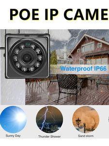 Mini IP POE Cameras Night Vision IPC Wide Angle 2.1MM Audio Security Camera IP66 Small Surveillance Video P2P Onvif Bird Cage