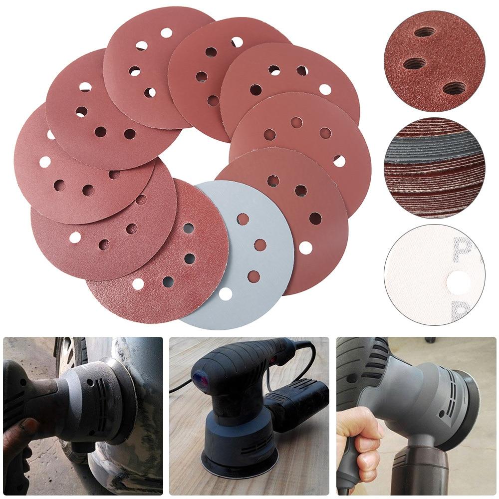 50/100 Uds 125mm discos de lijado de forma redonda papel de lija - Herramientas abrasivas - foto 4