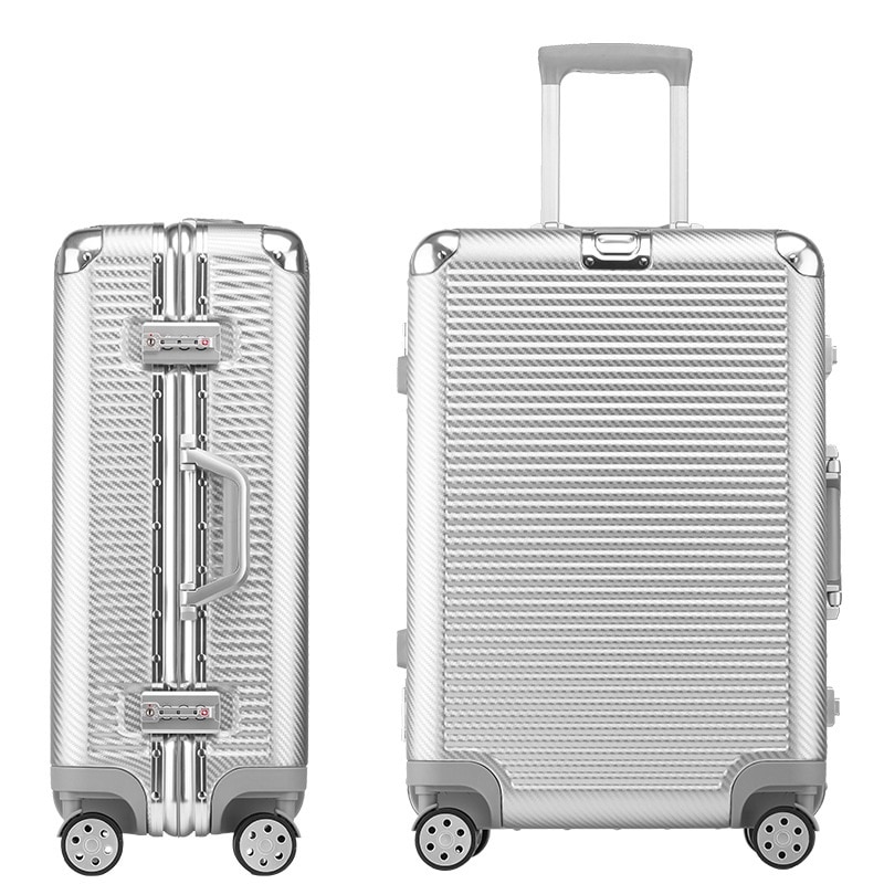 Letrend New Fashion 29 Inch Aluminium Frame Rolling Luggage Universal wheel Trolley Box 20'Boarding Suitcase Women Travel Bag