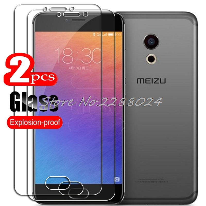 2PCS FOR Meizu PRO 6 6s  High HD Tempered Glass Protective On  PRO6 Phone Screen Protector Film