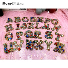 EverShine Special Shaped Diamond Painting Accessories Keychain Letters Diamond Mosaic Art Keyring Bead Decor