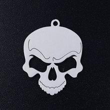 5 pcs/lot rue crâne hommes en acier inoxydable bijoux pendentif bricolage breloques en gros bijoux fournitures OEM commande acceptée