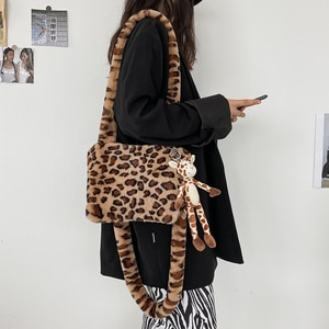 new sac cartoon Fur Crossbody bag for women 2020 luxury handbag purse hand clutch famous brand luxury handbag women bag designer