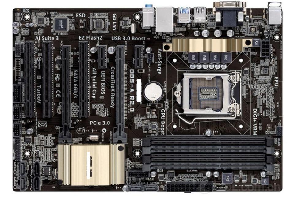 اللوحة الرئيسية الأصلية B85-A R2.0 DDR3 LGA 1150 USB2.0 USB3.0 32GB SATA III B85 لوحة رئيسية مستعملة لسطح المكتب