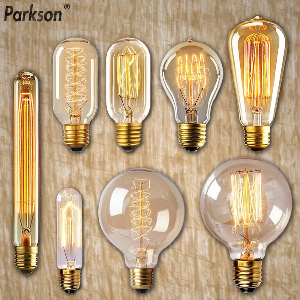 Приглушаемая винтажная подвессветильник лампа Эдисона E27 40 Вт, 110 В, 220 В, лампочки с ампулой лампа накаливания для украшения дома