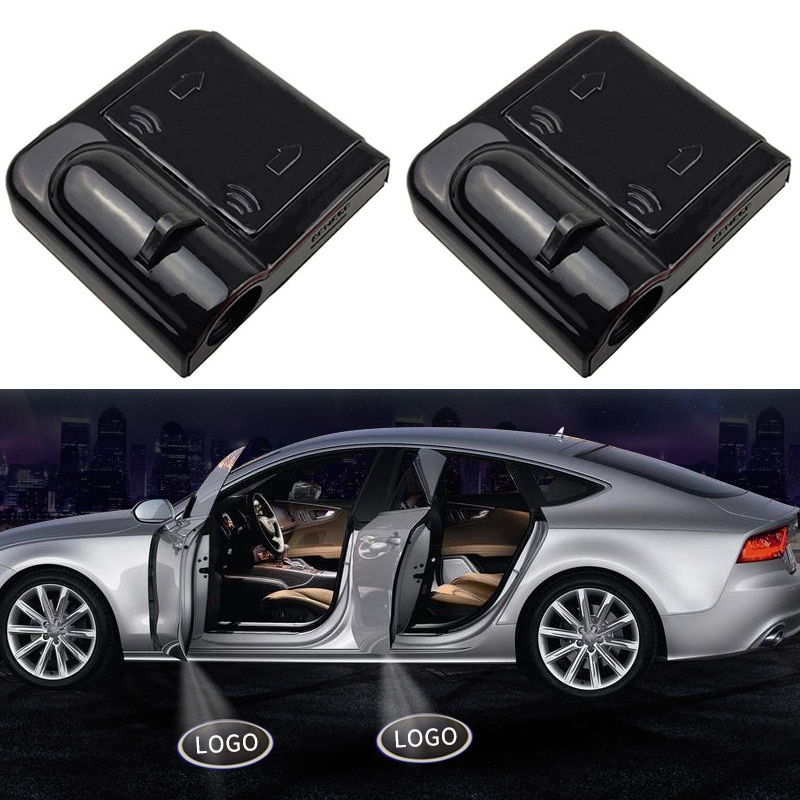 1 шт. беспроводной Автомобильный Дверной лазерный проектор с логотипом Shadow светодиодный светильник для Renault Peugeot, BMW Mazda автомобильные аксессуары