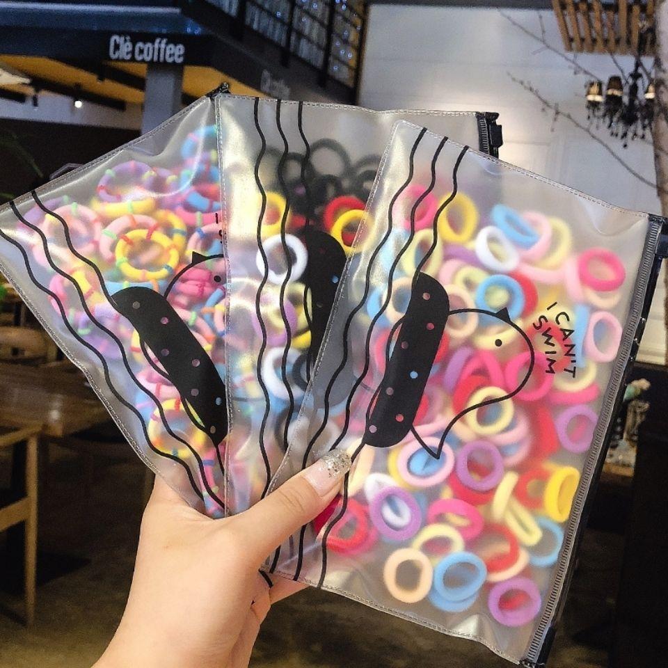 100Pcs/Pack Nylon Elastic Hair Band Rope Colourful High Elasticity Scrunchies Gum For Girls Hair Tie Ponytail Holder Headwear
