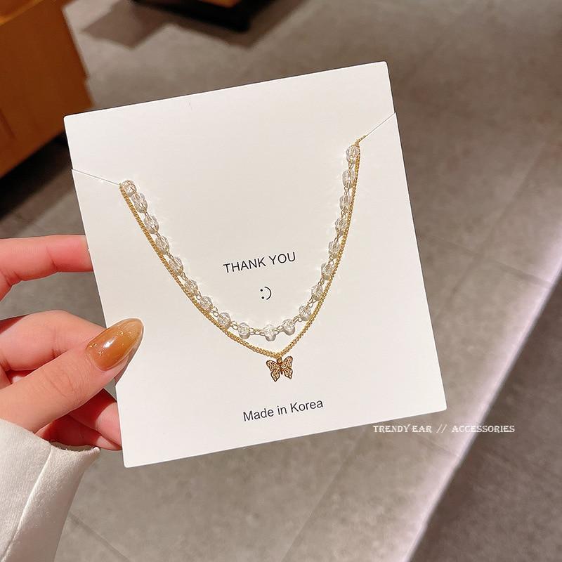 Женское-Двухслойное-ожерелье-из-титановой-стали-с-кристаллами-и-бабочками