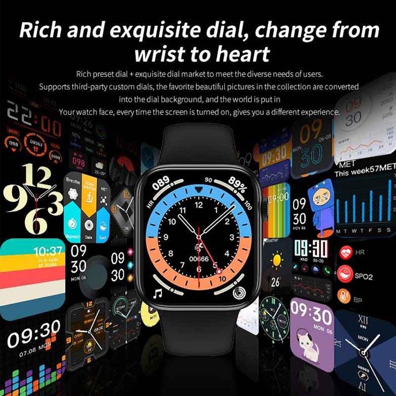 5pcs HW16 44mm Men Smart Watch Series6 Full Screen Bluetooth Call Music control Play Women Sport Smartwatch VS IWO12 W46 W26
