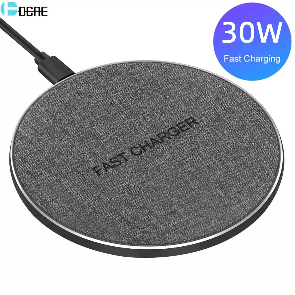 QI Wireless Charger Type C USB 30W for IPhone 12 11 XS XR X 8 Fast Charging For Samsung S20 S10 S9 X
