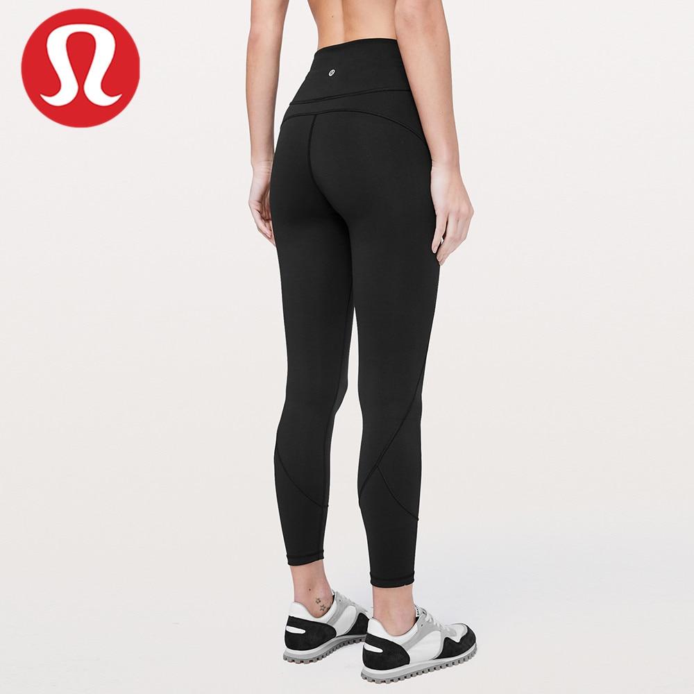 Lululemon-mallas deportivas para mujer, pantalones de Yoga, color negro, descuento