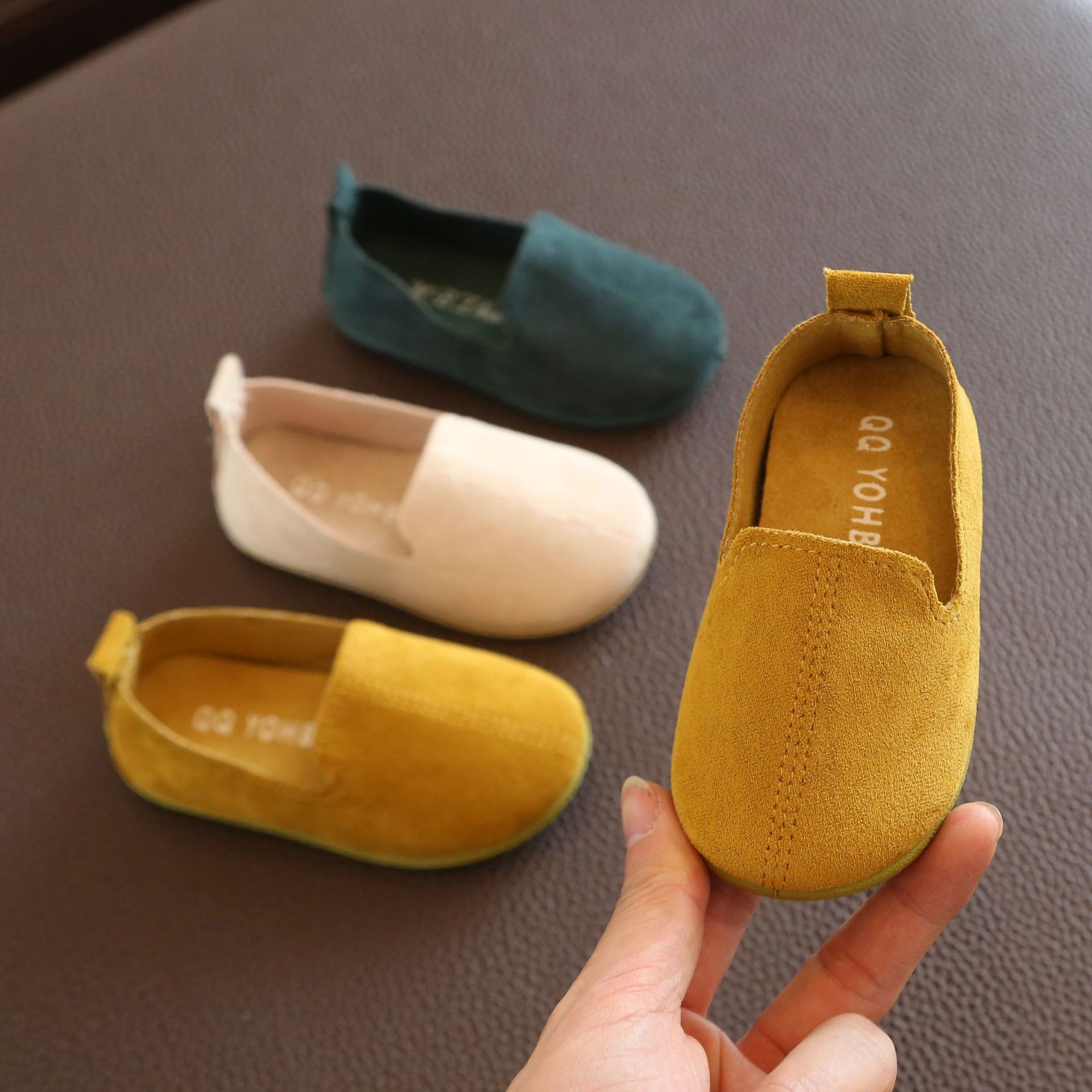 Kids Shoes Genuine Leather Shoes Loafers For Boys Size Is Smaller New Fashion Sneakers Children Peas