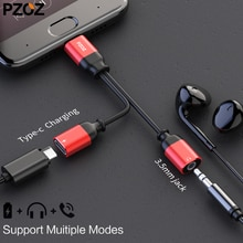 PZOZ USB Type C mâle à 3.5mm Jack écouteur adaptateur câble AUX Audio pour Xiao mi mi 6 6x Huawei P20 Mate 10 Pro type-c Charge rapide