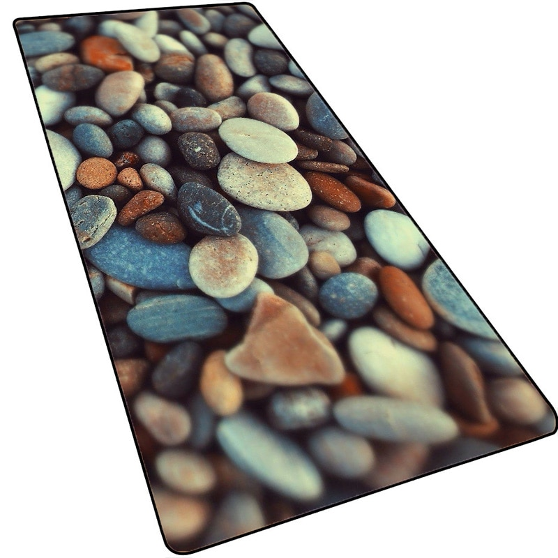 Mairuige Beach Scenery Colorful Stones Anime Gaming Large Edge Mouse Pad Computer Mousepad XXL Surface Mause Keyboard Desk Mat enlarge