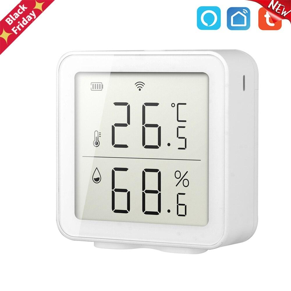 Sensor de Temperatura e Umidade Trabalho com Alexa Wifi Casa Inteligente Indoor Sensor Termômetro Medidor Umidade