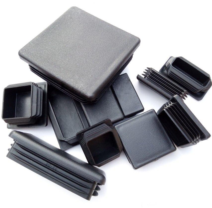 75x150, 100x150, 60x80, 60x120, 80x120, 120x120mm, enchufe de tubo, tubo de plástico PE, tapa de tubo de marcado, extremos cuadrados, suelo oblongo