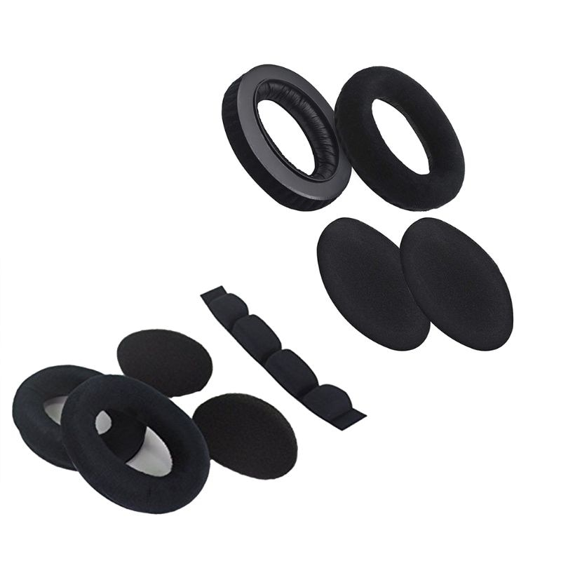 Ootdty earpads almofada esponja espuma bandana para hd545 hd565 hd580 hd600 hd650 fone de ouvido