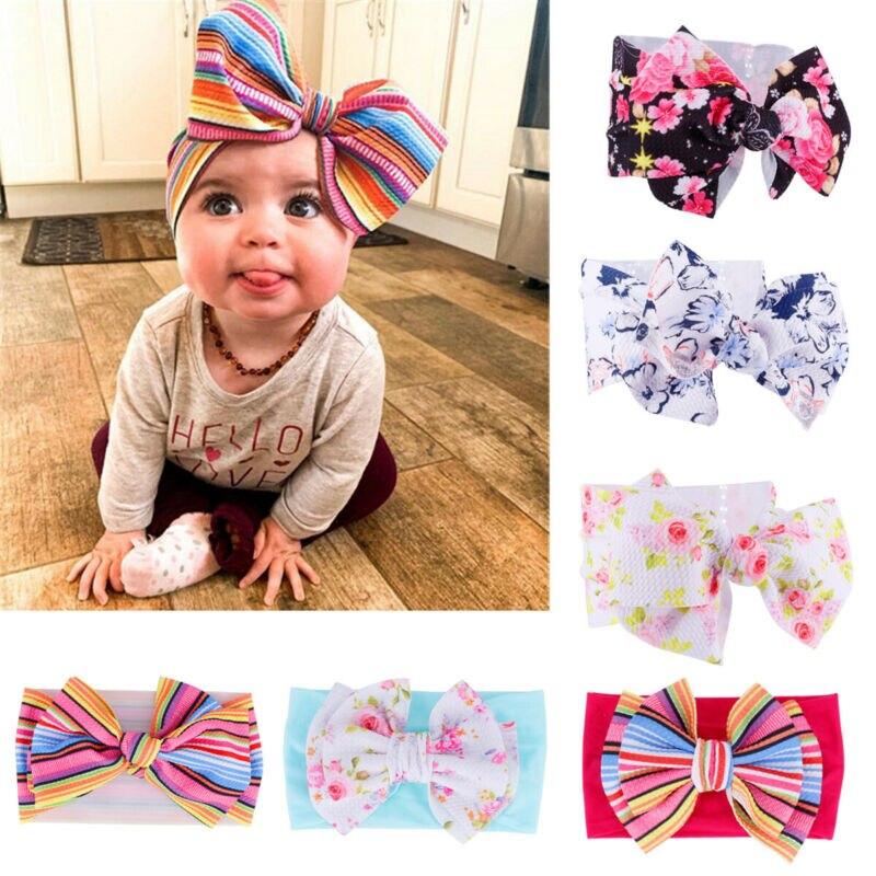 USA Kid Girls Baby Toddler Bow Headband Hair Band Accessories Headwear Head Wrap