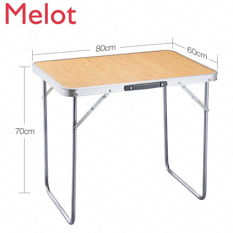 Mesa plegable para exteriores, mesa plegable sencilla para el hogar, portátil, para acampar, Madera
