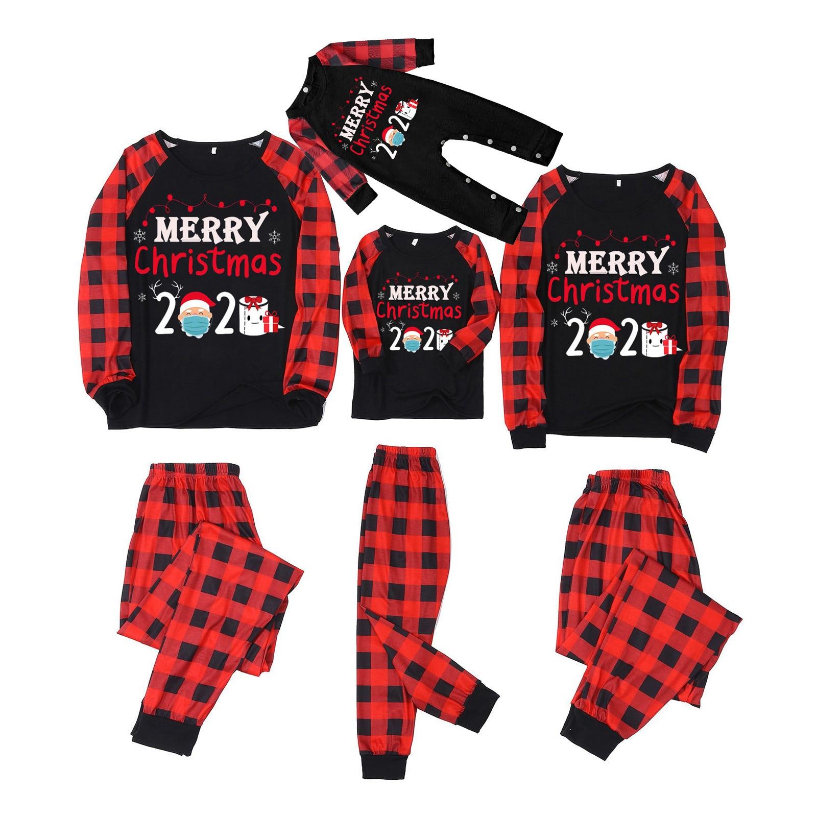La navidad de 2020 feliz juego de pijamas de navidad para la...
