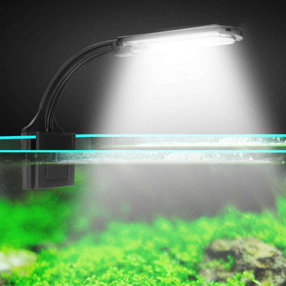 Super Slim LED Aquarium Light Lighting plants Grow Light 5W Aquatic Plant Lighting Waterproof Clip-on Lamp For Fish Tank