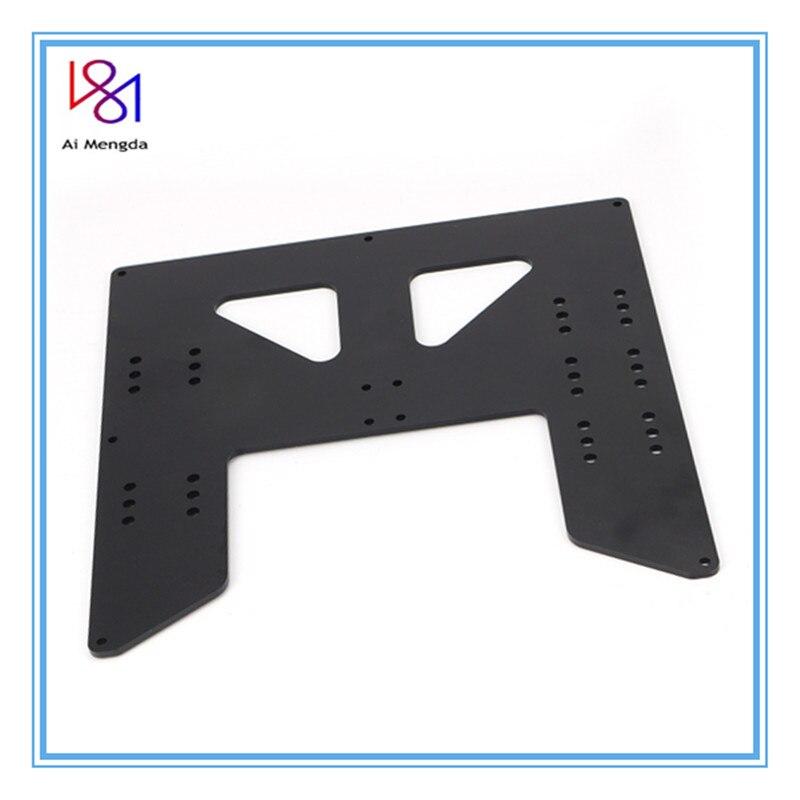 Placa de Alumínio para a8 Preto Anet Impressora Atualização y Transporte Anodizado Apoio Viveiro ou Impressoras i3 a8 a6 3d