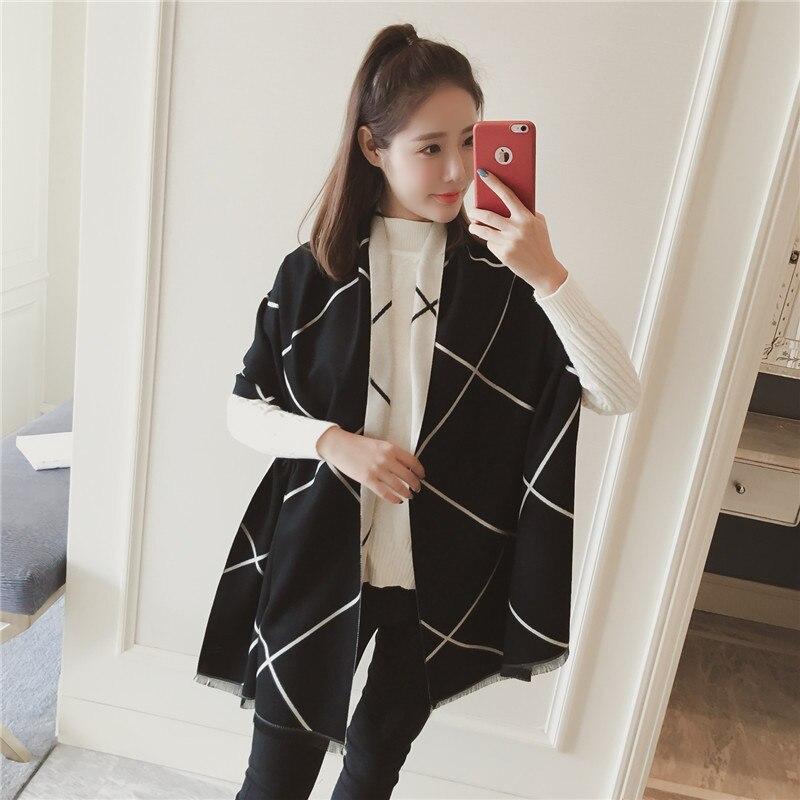 Otoño Invierno fina borla fina tira cálida mujer bufanda señoras moda coreana chal doble uso cuello anillo 2019 nuevo