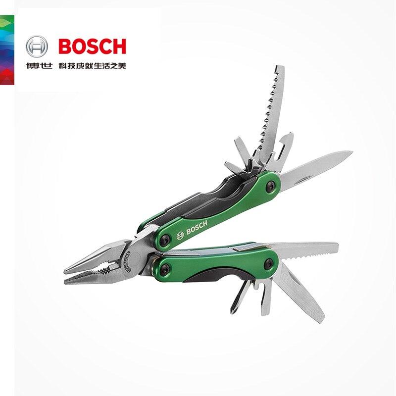 Pinza de Herramienta de combinación para cuchillo multifunción 12 en 1 de Bosch, pinzas plegables, Material de acero inoxidable GHK6, fácil de llevar