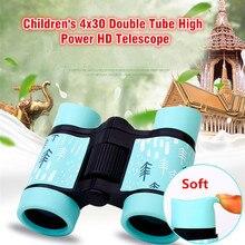 Fernglas HD 4x30 Teleskop Gummi Kinder 7 Bunte Teleskope Festen Zoom Anti-skid Tragbaren Feld gläser Geschenk für Kinder