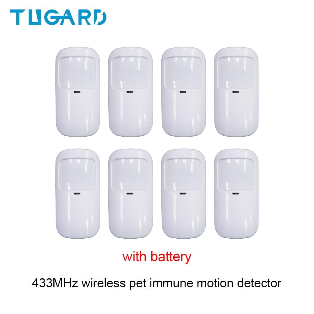 Беспроводной инфракрасный детектор движения TUGARD, 433 МГц, защита от домашних животных