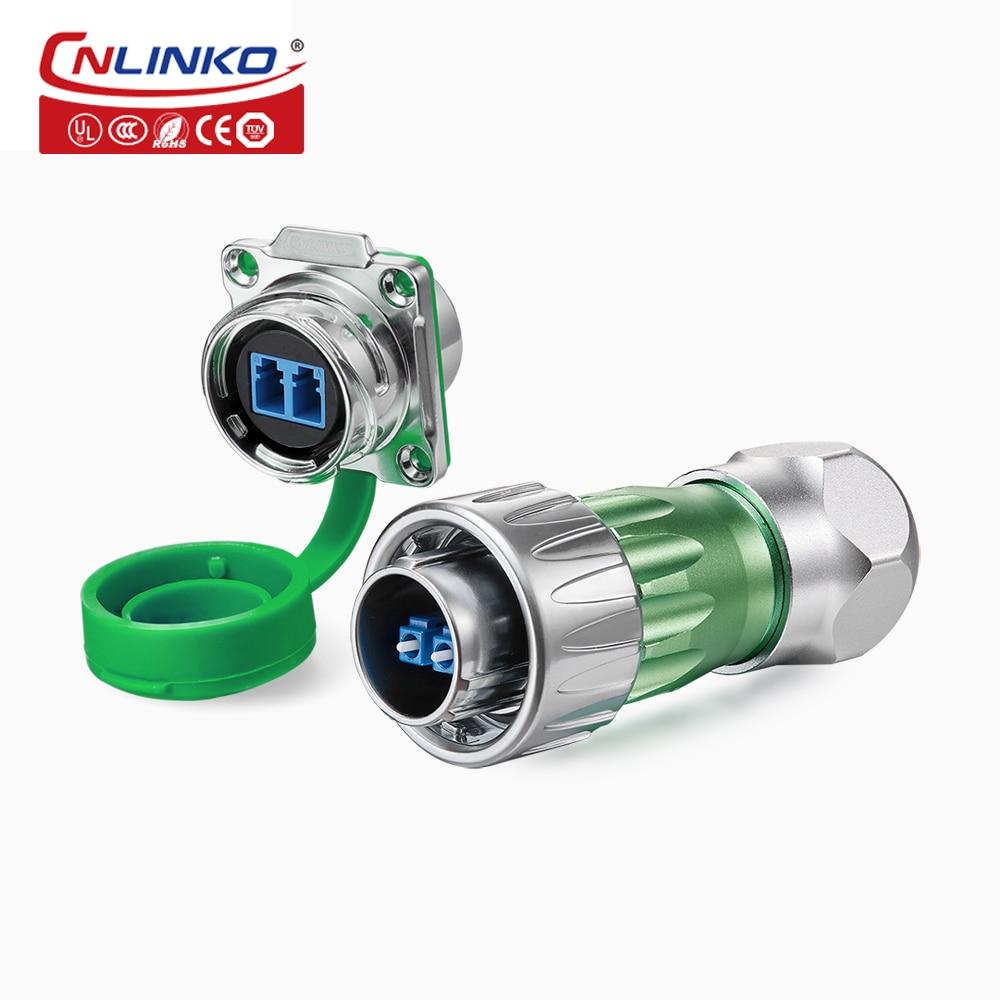 Cnlinko IP67 للماء الألياف الضوئية الكهربائية موصلات 2 دبوس صغير الكهربائية دبوس محول الذكور الألياف مقبس التوصيل مع 3m كابل