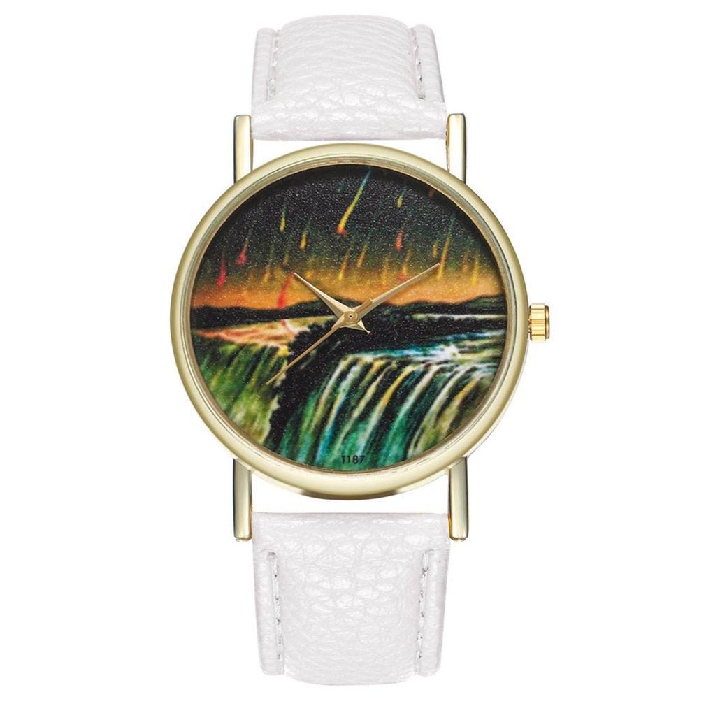 Leather Bracelet Lady Womans Wrist Watch Gift Women Watch Luxury Fashion Leather Fashion Causal Dres