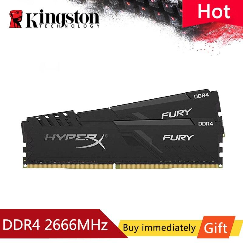HyperX Fury-ذاكرة الوصول العشوائي لسطح المكتب ، وحدة ذاكرة الوصول العشوائي الأصلية ، موديل DDR4 ، سعة 4 جيجابايت ، 8 جيجابايت ، 16 جيجابايت ، 32 جيجاباي...