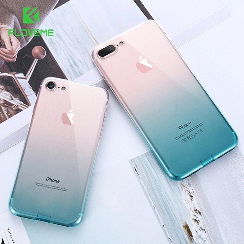 FLOVEME чехол для iPhone 6 6S iPhone 7 8 плюс ультра тонкие Чехлы для iPhone X XS Max XR ясно случаях ТПУ телефона для iPhone 5S 5 SE чехол на айфон 7 чехол на айфон 6 6s чехол на айфон 5s