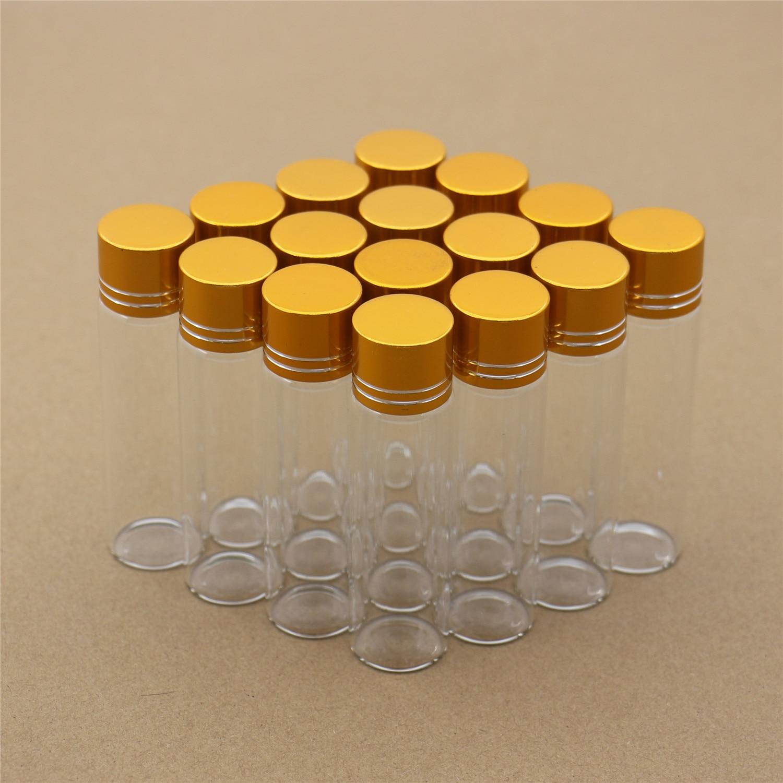 50 قطعة/الوحدة 22*80 مللي متر 20 مللي الزجاج زجاجات الذهبي غطاء بلاستيكي تخزين اختبار TubeSmall الزجاج الجرار حاوية صغيرة قوارير الزخرفية