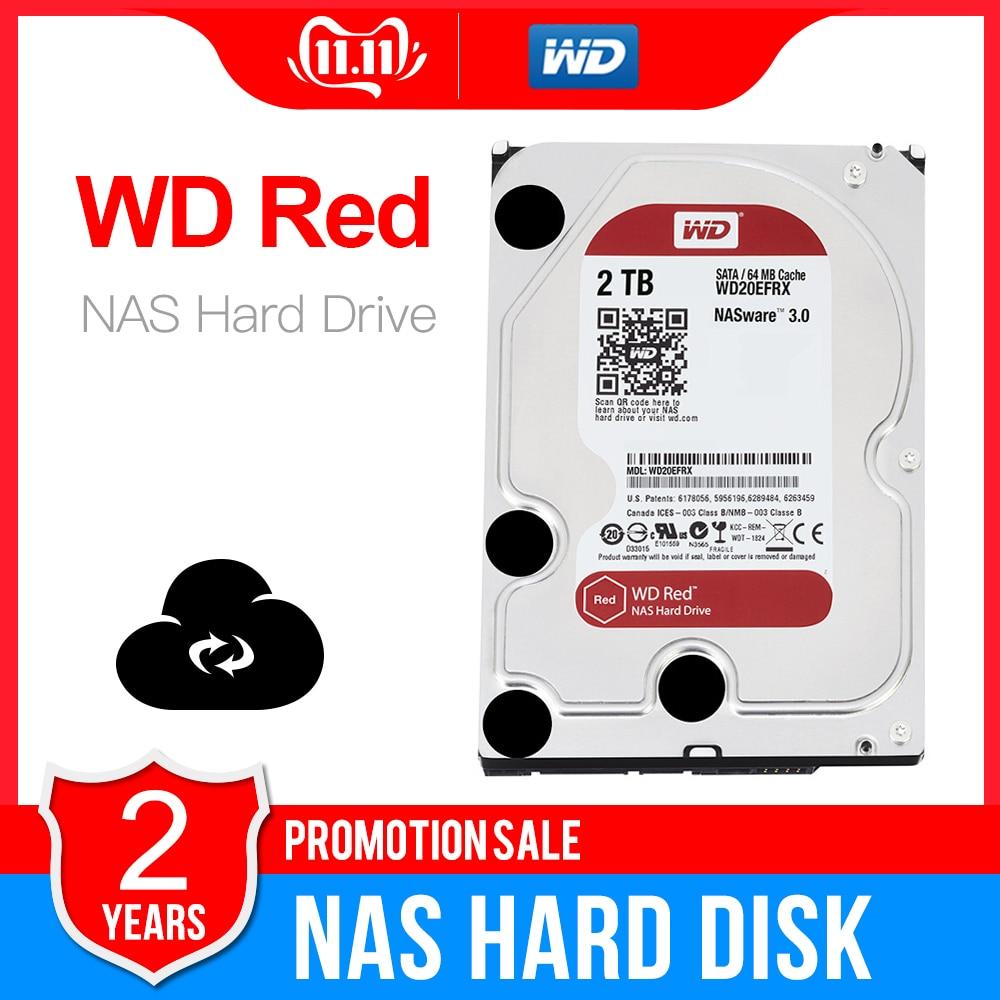 Western Digital WD Red NAS 2TB de disco duro de 2TB 3TB 4TB 5400 RPM clase, SATA 6 GB/S, 64 MB Cache 3,5-pulgadas para Decktop Nas