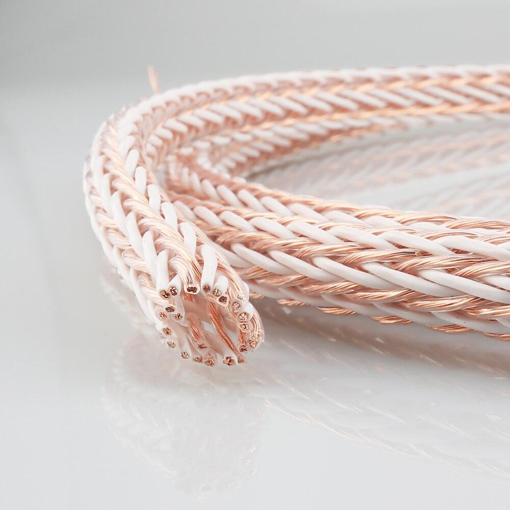 Купить с кэшбэком Per meter 12pcs Twist Cable 12TC OFC speaker cable bulk cable per meter speaker cable for diy