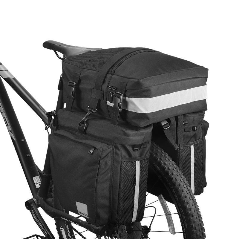 3 em 1 mountain road bicicleta tronco sacos de ciclismo duplo lado traseiro rack cauda assento pannier pacote