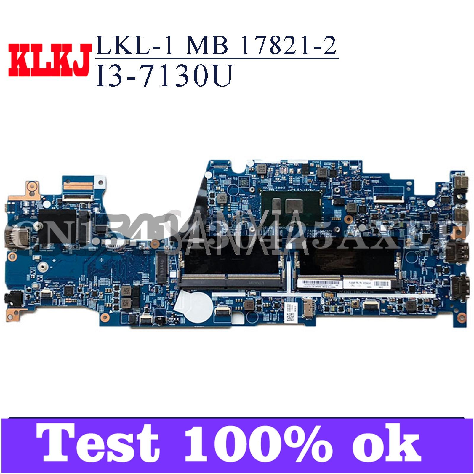 KLKJ LKL-1 MB 17821-2 материнская плата для ноутбука Lenovo Thinkpad L380 Йога оригинальная материнская плата I5-8250U