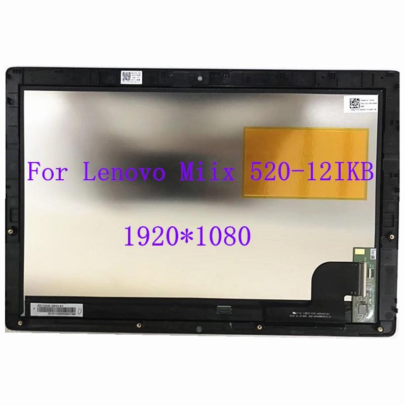 لينوفو Miix Miix 520 12 Miix 520-12Ikb miix520-12 IPS LCD تعمل باللمس مع الإطار محول الأرقام الجمعية 1920*1080