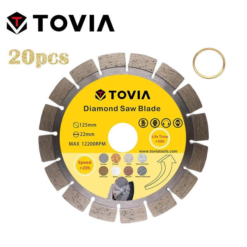TOVIA Diamond Saw Blades Cutting Stone Granite Marble Concrete Saw Disc 125mm