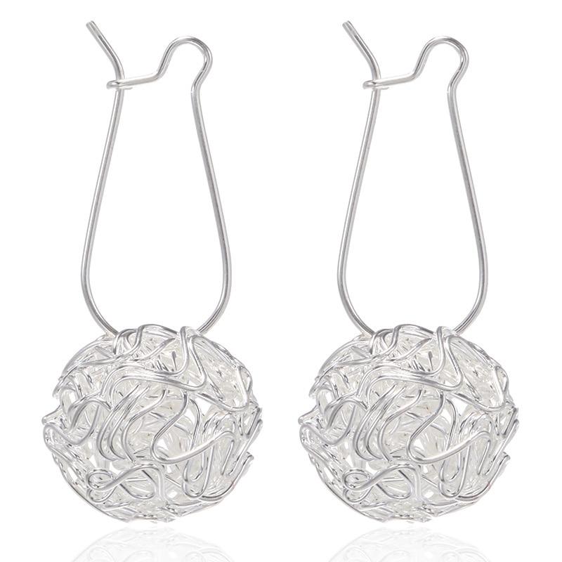 Korean Statement Hollow Metal Wire Ball Drop Earrings For Women Fashion Jewelry Pendientes Mujer Moda 2019 Oorbellen Brincos