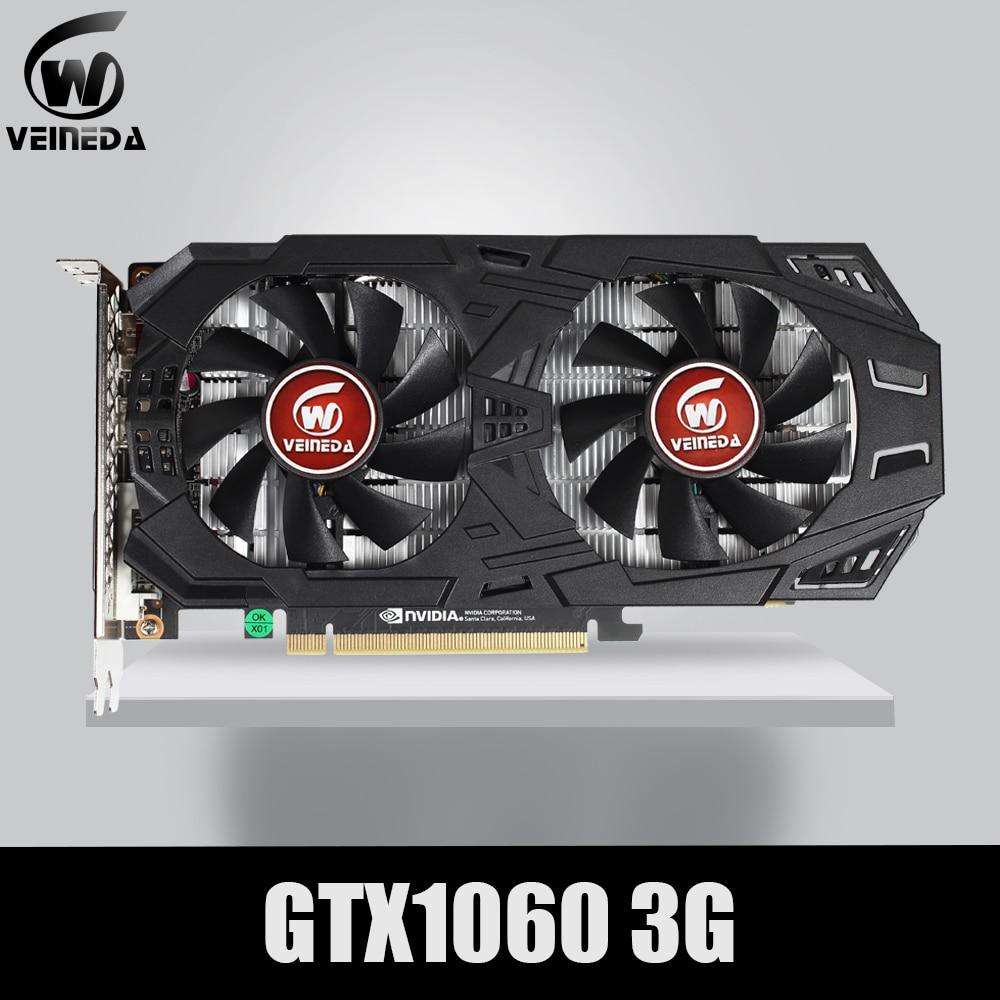 VEINEDA Graphics Card  GTX 1060 3GB 6GB 192Bit GDDR5 GPU Video Card  PCI-E3.0 For nVIDIA Gefore Games Stronger than GTX 1050Ti