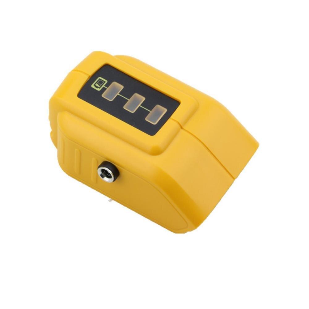 Dawupine USB Carregador Conversor Para DEWALT 14.4V 18V 20V Li-ion Battery Converter DCB090 Dispositivo USB Adaptador De Carga fonte de Alimentação