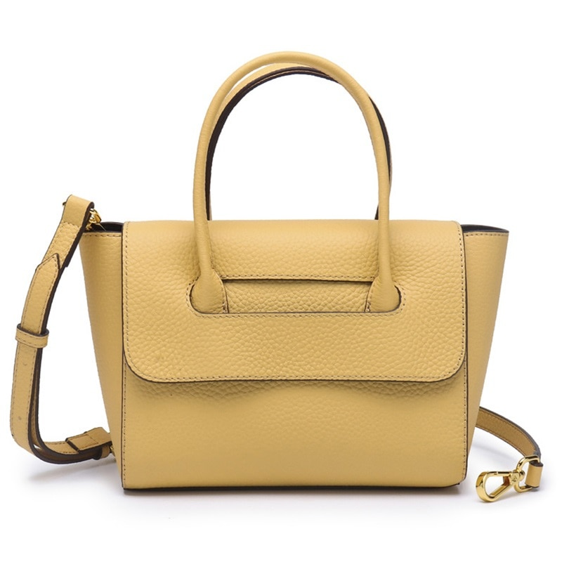 جديد 2021 جلد طبيعي المرأة حقائب كتف مصمم حقيبة اليد غير رسمية عالية الجودة سيدة حقيبة يد كروس أصفر أزرق رمادي