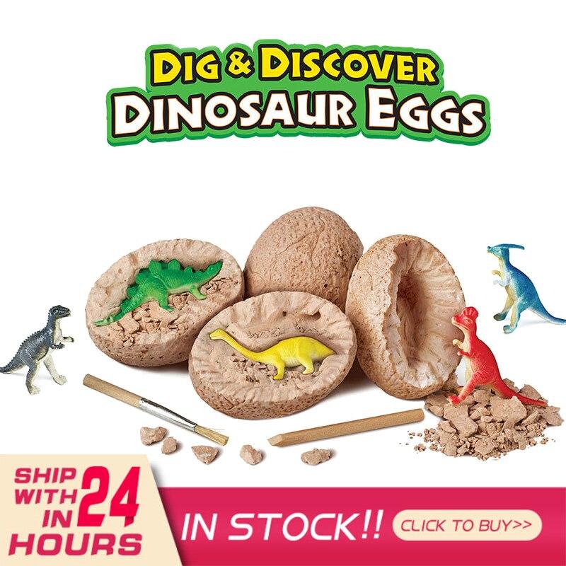 1 шт. динозавр игрушки динозавр яйца раскопки игрушки новинка кляп игрушки для детей динозавр научные игрушки Ранние развивающие игрушки