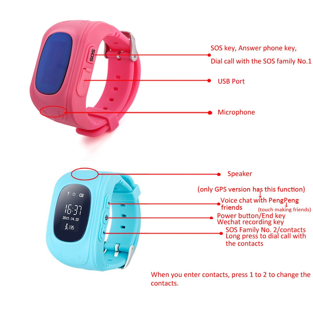 GPS Anti-lost Smart Kids Watch Digital Monitor children's Actions SOS Call Location Tracker Waterproof Baby Watch IOS & Android enlarge
