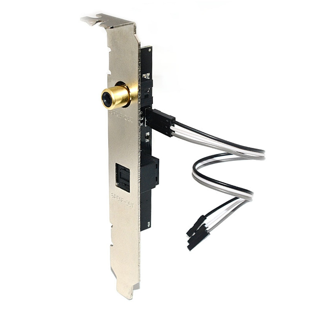 Decodificador de tarjeta de sonido profesional Coaxial Digital 24BIT192KHz, decodificador de escritorio PCB para placa base General, fibra óptica