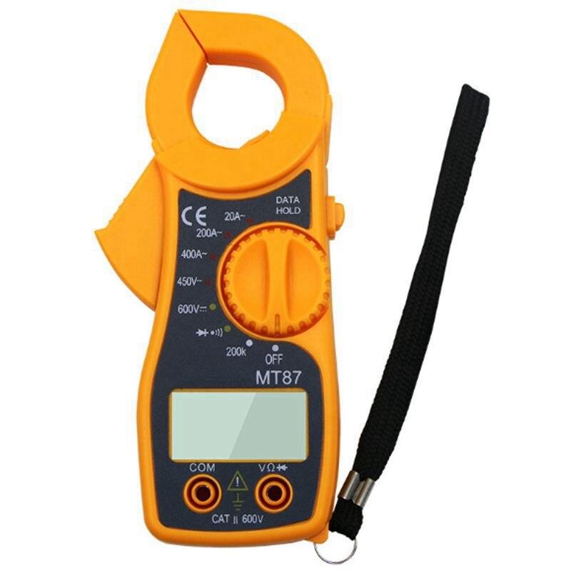 Multímetro de pinza Digital Mt87 portátil profesional multímetro de corriente de voltaje de CA CC tenazas de resistencia Amp Ohm probador electrónico MEDD